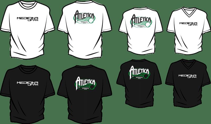 Camisetas 2012 Atlética - Moda personalizada universitária  7726304e443b8